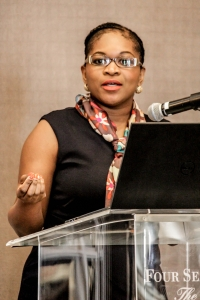 Zanele delivering her presentation